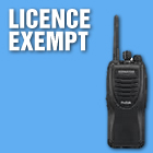 license exempt radio hire